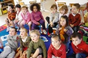 Les bambins du basque à l'école Saint-Joseph. PHOTO M. B.